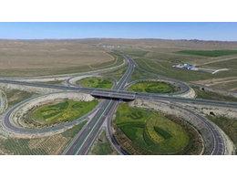 包头省道104线百白项目采用高强度双向格栅现已完工